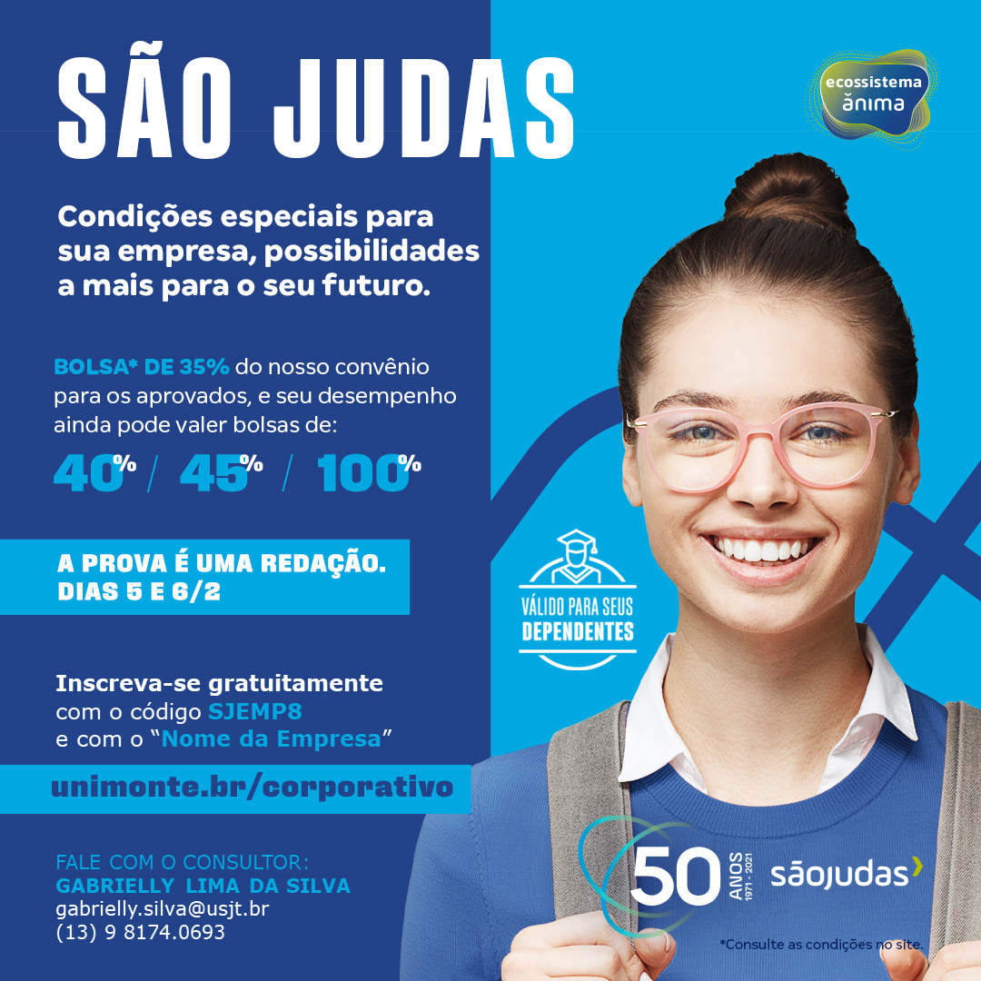 SÃO JUDAS – BOLSAS 35%